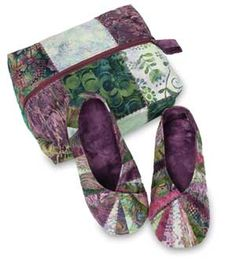 SNAPPY SLIPPERS AND TRAVEL BAG PATTERN -Keepsakequilting.com