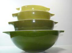 Vintage pyrex https://www.etsy.com/listing/180244300/set-of-4-pyrex-verde-green-cinderella