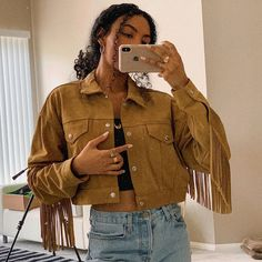 "ASIA JACKSON on Instagram: ""the yeehaw agenda"" Jackson Instagram, Devil Wears Prada, Photography Challenge, Cowboy And Cowgirl, Bohemian Gypsy, Head To Toe, Dress To Impress, Military Jacket, Curly Hair Styles"