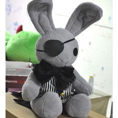 Cosplaywho Black Butler Kuroshitsuji Bitter Rabbit Anime Plush Doll ($69) ❤ liked on Polyvore featuring stuffed animals