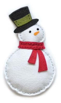 Plush Bundled Snowman Die-Use felt to make ornaments