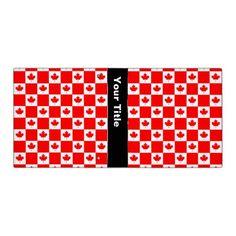Canadian flag pattern vinyl binder