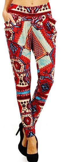 Aztec Print Harem pants w/pockets.. ...  small / by Foreverpeace