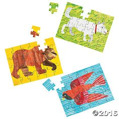 Eric Carle's Brown Bear, Brown Bear, What Do You See? Puzzles :: Oriental Trading :: $5.25/12 :: http://www.orientaltrading.com/eric-carleand-s-brown-bear-brown-bear-what-do-you-see-puzzles-a2-13720649.fltr?Ntt=brown%20bear