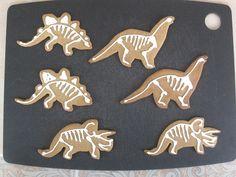 Dinosaur skeleton cookies