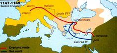 The Second Crusade occurred a little under a half a century after the First Crusade. The Second Crusade was primarily spurred on by a need to reinforce Jerusalem against Turkish Muslim invaders who threatened to retake the city from the Europeans who had conquered it during the First Crusade. Pope Eugene III urged Christians in Europe to aid Jerusalem.