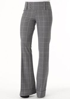Stanton Stretch Trouser at Alloy - gray/multi pattern Clothing For Tall Women, Casual Dresses For Women, Casual Outfits, Pants For Women, Cute Outfits, Clothes For Women, Professional Wardrobe, Work Wardrobe, Pants Outfit