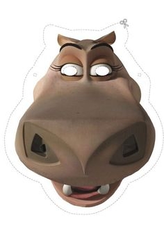 Gloria the Hippo Mask from Madagascar 3 - In AU Cinemas Sept 13! #kids activity #printables