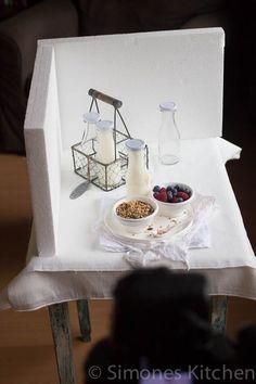 Food-Fotografie Tipps: Weisse Hintergründe, helles Geschirr, Milch...Wie fotografiert man weiss auf weiss und auf hellen Hintergründen?