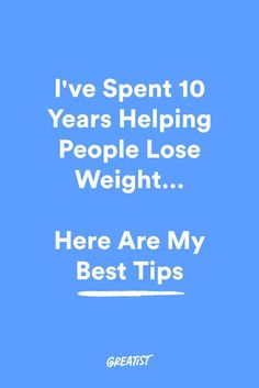 The truth is, you can lose weight with almost any program, but sustaining that weight loss is a different story altogether. #greatist http://greatist.com/live/weight-loss-tips-from-coaching-people-for-10-years