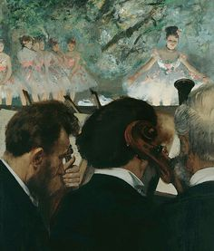 Degas, Musicians in the orchestra