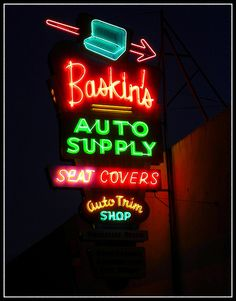 Baskins Auto Supply Fresno   A night shot of the very cool o…   Flickr