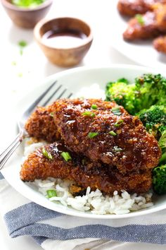 Sticky Garlic Chicken and Broccoli |  #food #chicken #garlic
