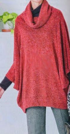 Mujeres y alfileres: Molde de buzo super amplio para imprimir, muy fácil