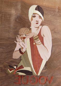 Holz und Leinen: Vogue Magazine Cover 1920s Teil 2