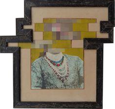 nandan ghiya, deFacebook project, 'download errow - DSC01260', 2012  acrylic on photographs & wooden frames