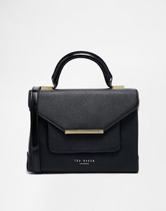 Ted Baker | Ted Baker Patent Crosshatch MARIZA Lady Bag at ASOS