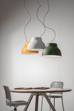 Direct light powder coated aluminium pendant lamp CICALA by Martinelli Luce design Emiliana Martinelli @martinelliluce