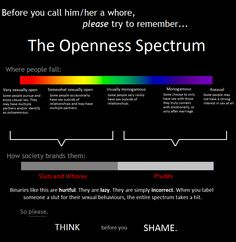 SEX! The openness spectrum! sluts, players, virgins. Hate or acceptance. Which side do you want to be on?