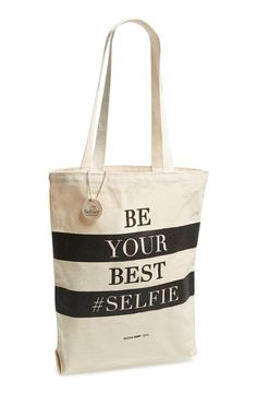 040170bc9bf00 Because why not.     Be Your Best  Selfie  Tote Christmas Gift.
