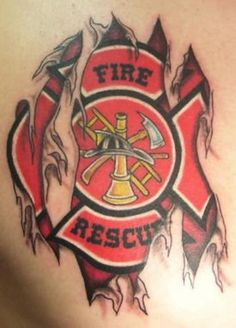 Fire Fighter Rescue Tattoo