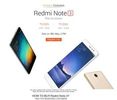 Amazon Mobile Offers - At 2 PM Today, Redmi Note 3 Smartphone Sale begins. Login Now - Couponscenter