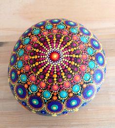 Mandala Stone by HFXrocks on Etsy
