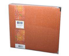 We R Memory Keepers - Linen 12x12 Postbound Albums  - Orange Zest at Scrapbook.com $29.45