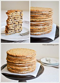 Chocolate Chip Cookie Cake | TheCakeBlog.com (This is kind of genius...a cake for the people who don't like cake.)