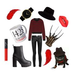 """""""Freddy's Girl"""" by jadebowman on Polyvore featuring Yves Saint Laurent, Marc by Marc Jacobs, Maison Michel, Charlotte Russe, Larsson & Jennings, Charlotte Tilbury, Lime Crime and NARS Cosmetics"""