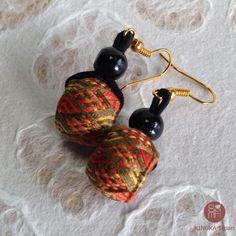 Yubinuki earrings | unique handmade with Japanese silk thread(Etsy のYubinukiKinukaJapanより) https://www.etsy.com/jp/listing/493312761/yubinuki-earrings-unique-handmade-with