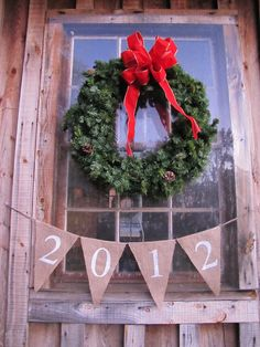 ring in the new year w/ burlap pennant banner