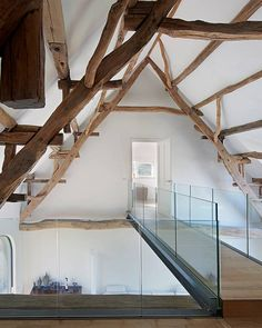 Renovation monumental farm - Lilly is Love Barn House Conversion, Barn Conversion Interiors, Italian Home, A Frame Cabin, Attic Remodel, House Entrance, Home Office Design, House Goals, Future House