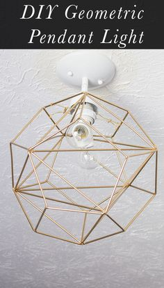 Wow! This modern DIY Geometric Pendant Light is actually easy to make. This tutorial walks you through it step by step!