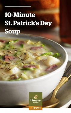 Corned Beef Cabbage Soup Your favorite St. Pat's Day flavors in just 10 minutes. Irish or not, discovering this recipe is like finding a pot o' gold. Tap the Pin to see the recipe. Crockpot Recipes, Soup Recipes, Dinner Recipes, Cooking Recipes, Healthy Recipes, Pumkin Recipes, Dinner Ideas, Gumbo Recipes, Healthy Soups