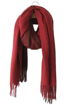 Fashion Color Block Fringe Scarf From The Plus Size Fashion Community At www.VintageAndCurvy.com