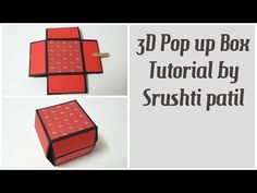 Pop up Cubes in a box Tutorial by Srushti Patil Photo Album Scrapbooking, Scrapbook Albums, Explosion Box Tutorial, Diy Crafts For Girls, Make Tutorial, Pop Up Box Cards, Slider Cards, Craft Box, Card Tutorials