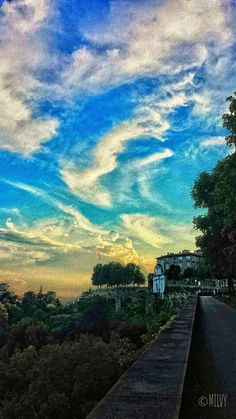 "#italy #photography #travel #fall #sunset #painting ""Bergamo...beautiful sunset"""