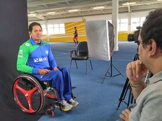 Atleta paralímpico Luis Carlos Cardoso durante entrevista à Folha de SP. #Rio2016