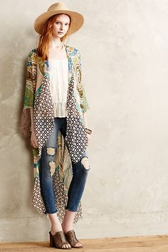 Print Story Kimono #anthrofav #greigedesign