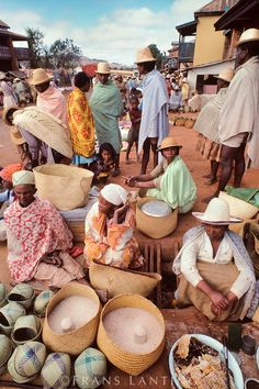 Market scene, Camp Robin, Central Madagascar
