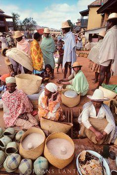 Market scene, Camp Robin, Central Madagascar