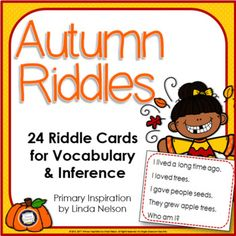 These fall riddles are a fun-filled and engaging way to lay the groundwork for early comprehension skills. Solve a riddle a day every day to give your students daily practice inferring, identifying and answering key questions, drawing conclusions, and building vocabulary.