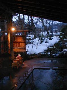 Onsen in Nachikatsuura, a hot spring region in Japan.