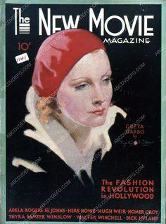 Greta Garbo New Movie magazine cover 35m-4274
