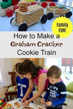 How to Make a Graham Cracker Cookie Train Recipe. AND.. NABISCO is giving away $10,000 Cash, and other daily prizes in their #Summer #Sweepstakes! Replace your #GingerBreadHouse with a COOKIE TRAIN for #Christmas this year! #FamilyFun #KidCraft #GrahamCracker #Snack #Cookie #Recipe #NABISCO #Holiday #Ad