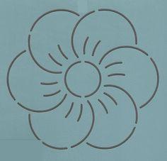 """Single Rose 5"""" - The Stencil Company"""