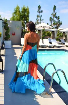 I want this so bad! Suboo Pleated Summer Maxi Dress