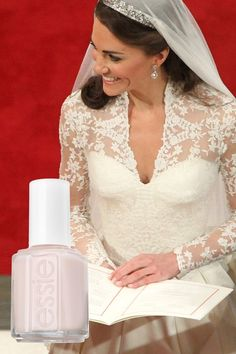 Kate wearing Essie 'Allure' - so I'm wearing this today - feelin' like a princess!