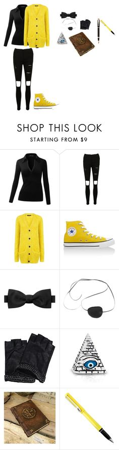 """""""female causal Bill Cipher"""" by ladyalice127 on Polyvore featuring Pink Tartan, Converse, Burberry, Ciel, Karl Lagerfeld, Bling Jewelry and Montegrappa"""